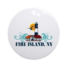 Fire Island Ornament (Round)