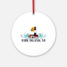 Fire Island Ornament (Round)