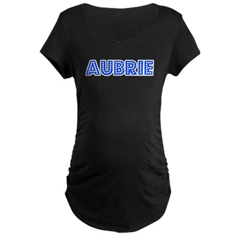 Retro Aubrie (Blue) Maternity Dark T-Shirt