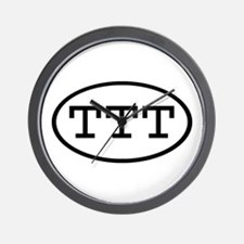 TTT Oval Wall Clock