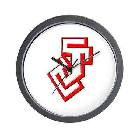 Funky Red J Wall Clock