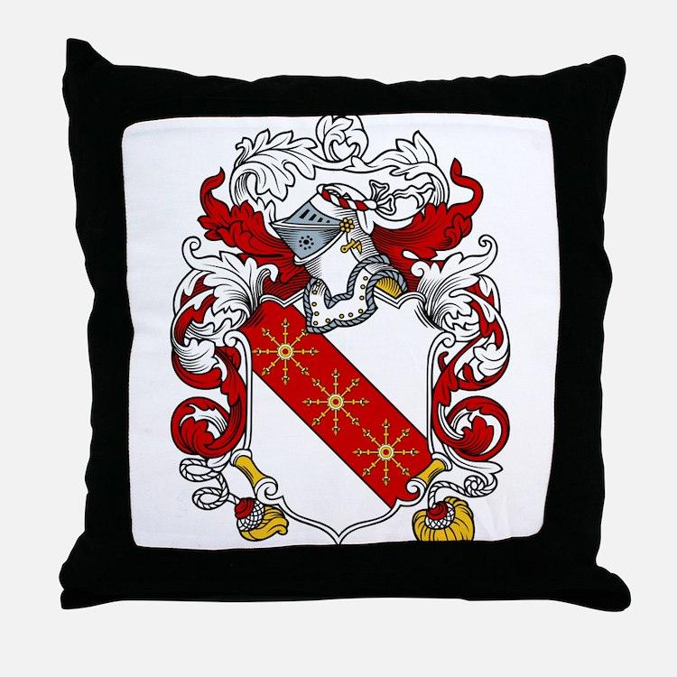 Thornton Family Crest Throw Pillow