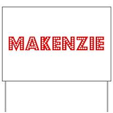 Retro Makenzie (Red) Yard Sign