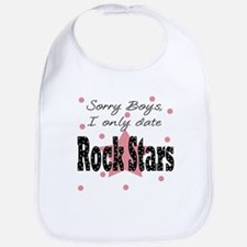 Sorry only date Rock Stars Baby Infant Toddler Bib