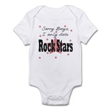 Sorry only date Rock Stars Baby Infant Bodysuit