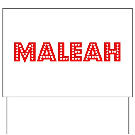 Retro Maleah (Red) Yard Sign