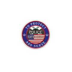 Mason Police Officer Mini Button (100 pack)