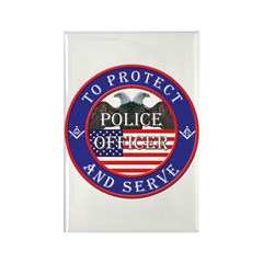 Mason Police Officer Rectangle Magnet (100 pack)