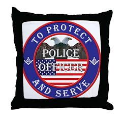 Mason Police Officer Throw Pillow