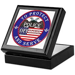 Mason Police Officer Keepsake Box