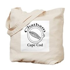 """Chatham, Cape Cod"" with Clam Ring Tote Bag"