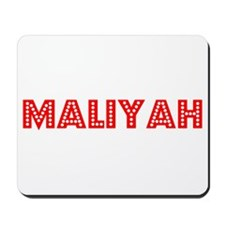 Retro Maliyah (Red) Mousepad