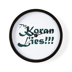 The Koran Lies Wall Clock