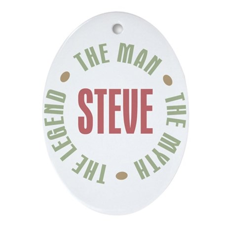 Steve Man Myth Legend Oval Ornament