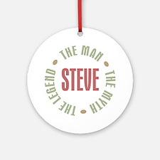 Steve Man Myth Legend Ornament (Round)