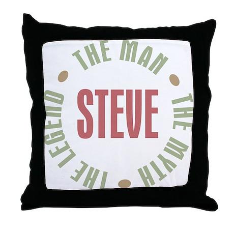 Steve Man Myth Legend Throw Pillow