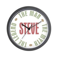 Steve Man Myth Legend Wall Clock