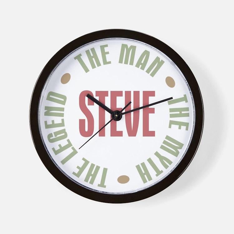 Steve Man Myth Legend Wall Clock