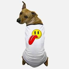 Happy Face Tongue Dog T-Shirt
