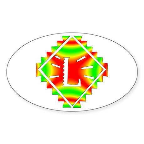 Rasta Plate L Oval Sticker