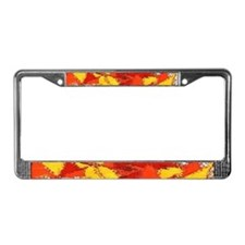 License Plate Frame -- Fire