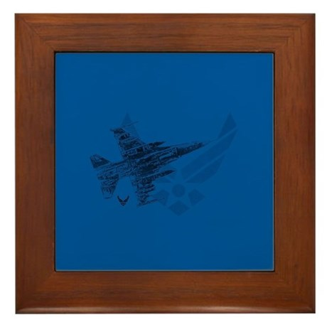 Air Force Logo Jet Framed Tile