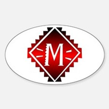 Aztec Plate M Oval Decal