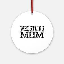 Wrestling Mom Ornament (Round)