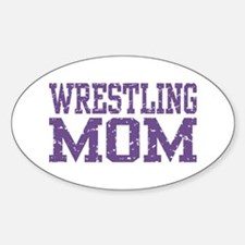 Wrestling Mom Oval Decal