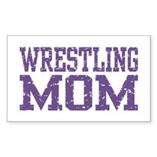 Wrestling Mom Rectangle Decal
