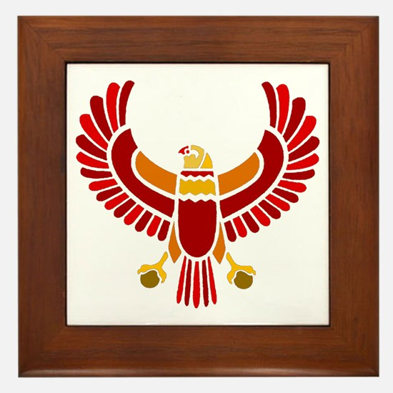 Egyptian Eagle Framed Tile