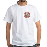 Masonic Firefighter White T-Shirt