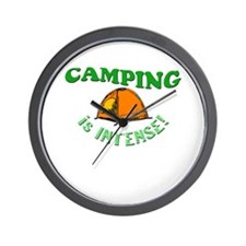 Camping is Intense! Wall Clock