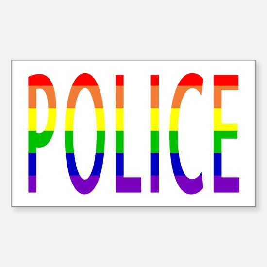 Police - Gay Pride Rectangle Decal