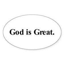 God is Great Oval Bumper Stickers