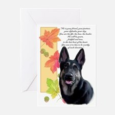 gsd sympathy Greeting Cards