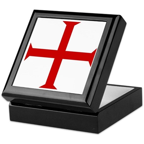 Knights Templar Cross Keepsake Box