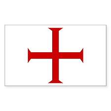 Knights Templar Cross Rectangle Decal