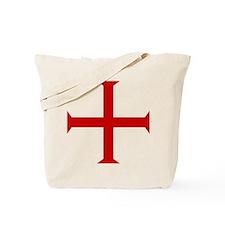 Knights Templar Cross Tote Bag