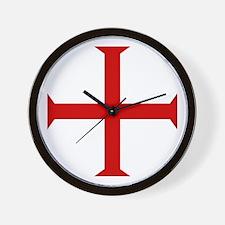 Knights Templar Cross Wall Clock