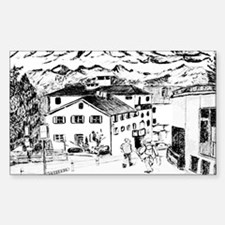 Swiss Town Rectangle Decal