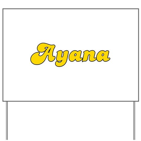 Retro Ayana (Gold) Yard Sign