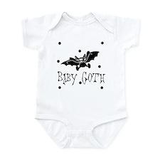 Baby Goth Black Bat Baby Toddler Infant Bodysuit