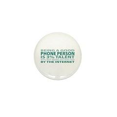 Good Phone Person Mini Button (10 pack)