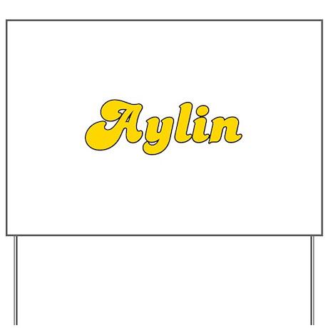 Retro Aylin (Gold) Yard Sign
