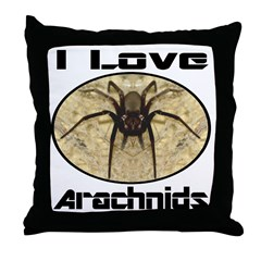 I Love Arachnids Throw Pillow