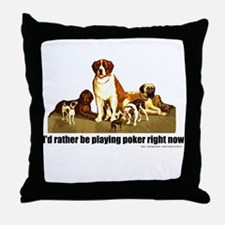 Poker Dogs Throw Pillow