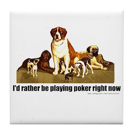 Poker Dogs Tile Coaster