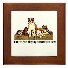 Poker Dogs Framed Tile