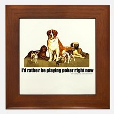 Poker Dogs Framed Tile